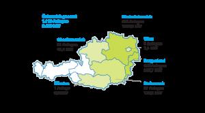Regionale Verteilung Windkraft Ende 2015